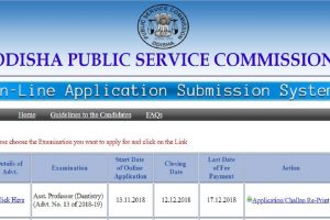 OPSC recruitment 2018: Applications invited for Homoeopathic Medical Officers, apply at opsconline.gov.in