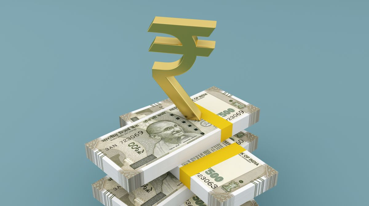 The rupee appreciated by 21 paise to 69.44 against the US dollar in opening trade Tuesday, driven by weakening of the greenback and positive opening in domestic equities.