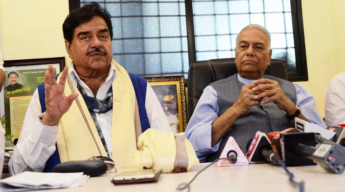 Shatrughan Sinha meets Lalu Prasad Yadav, Lok Sabha polls, Patna Sahib, Rajendra Institute of Medical Sciences, Bihari Babu, Hindustani Awam Morcha, Jitan Ram Manjhi, Upendra Kushwaha, Ram Vilas Paswan, Atal Bihari Vajpayee, Prime Minister Narendra Modi, Amit Shah