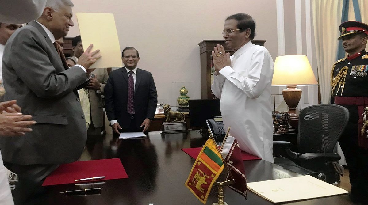 Sacked in October, Ranil Wickremesinghe sworn in as Sri Lankan Prime Minister