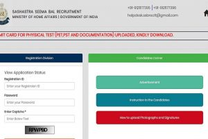 SSB releases the admit cards for SI, ASI and Head Constable posts at applyssb.com