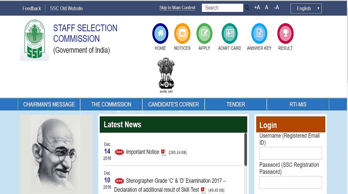 SSC examinations, Staff Selection Commission