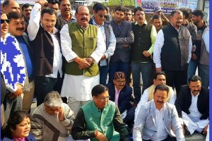Uttarakhand: Congress stages protest over security check in Assembly