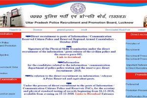 UPPRPB recruitment 2018: Examination date for Constable recruitment exam announced at uppbpb.gov.in