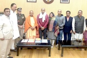 Bulandshahr violence: Road, college to be named after slain police officer; CM Yogi meets his family