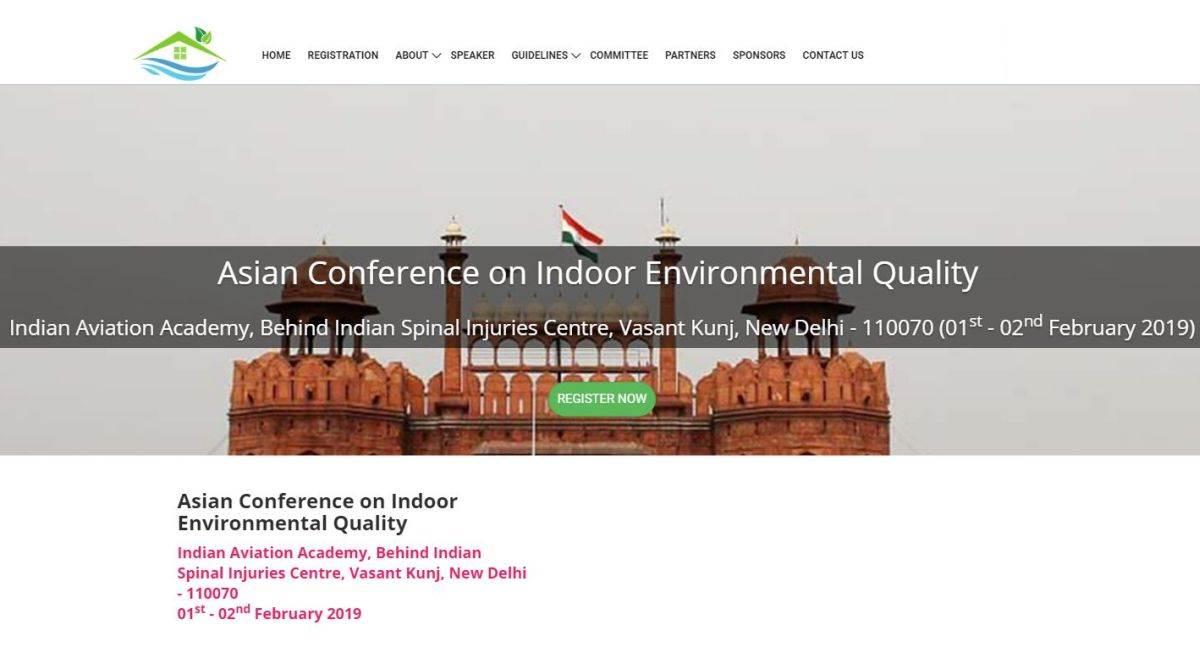 Indoor Environment Quality, ACIEQ 2019, Air pollution, New Delhi, IIT Delhi, EMC Mumbai, CSIR-NEERI, IIT Madras, Society for Indoor Environment