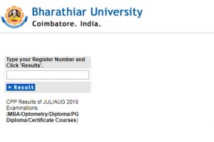 Bharathiar University CPP Results/Scorecard 2018 released at buc.edu.in | Check now