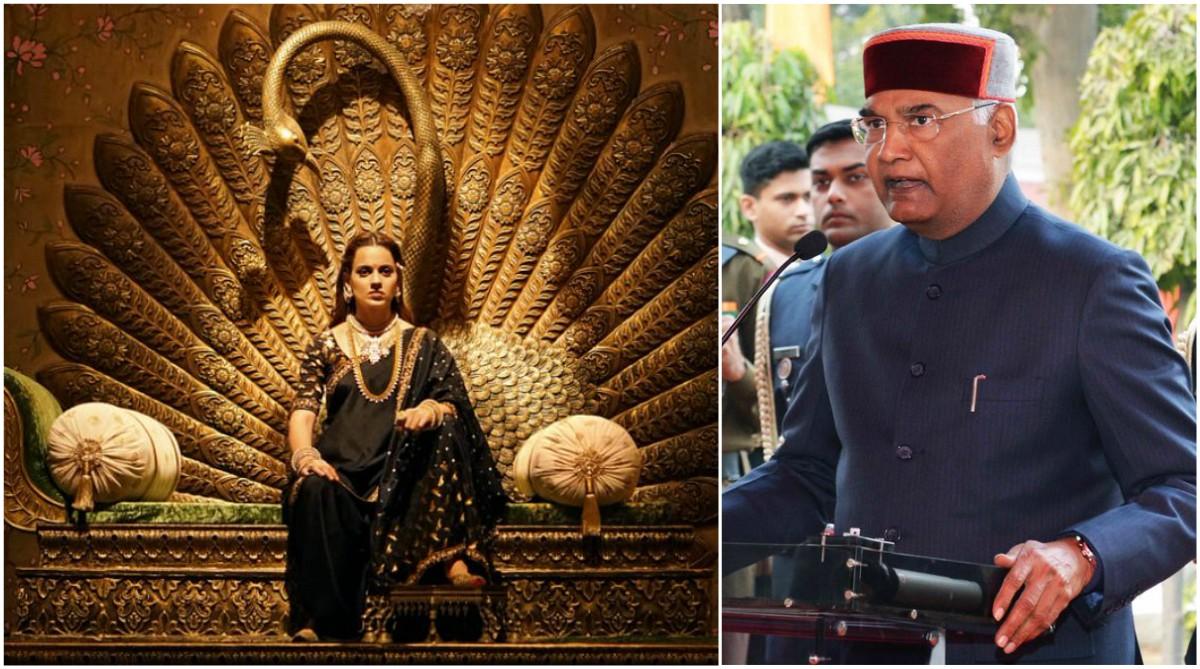 President Ram Nath Kovind will attend a special screening of Kangana Ranaut's Manikarnika