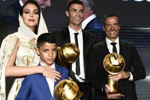 Cristiano Ronaldo wins Best Player award 5th time at Globe Soccer Awards