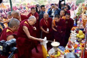 Dalai Lama visits Mahabodhi Temple in Bodh Gaya