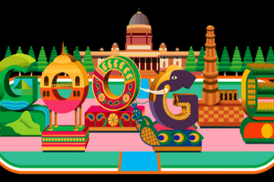 Google displays colourful doodle to mark 70th Republic Day