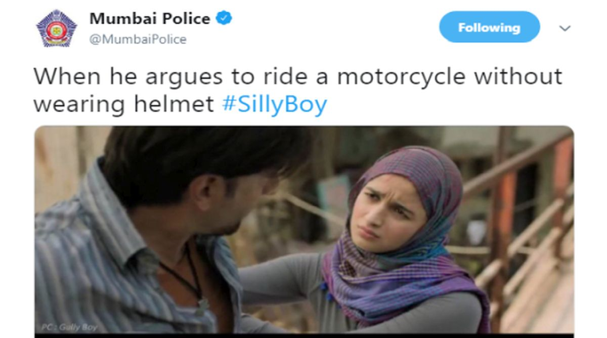 Mumbai Police's 'Silly Boy' twist to Gully Boy's trailer is hilarious