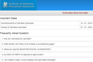 IBPS SO Mains Admit Card/Call Letter 2019 released at ibps.in | Download now