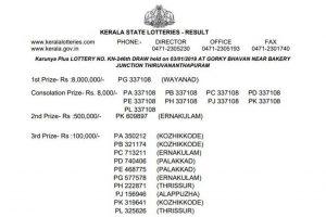 Karunya Plus lottery KN 246 result declared; winner from Wayanad | Keralalotteries.com