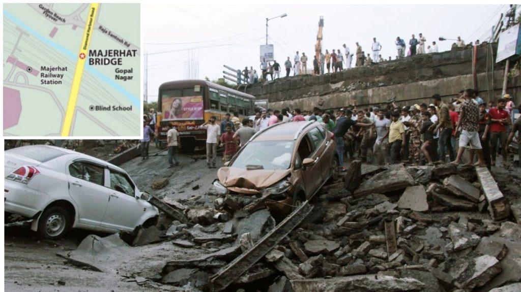 Majerhat bridge, Vidyasagar Setu, cable-stayed bridge, West Bengal government, Majerhat Metro station, Majherhat bridge collapse