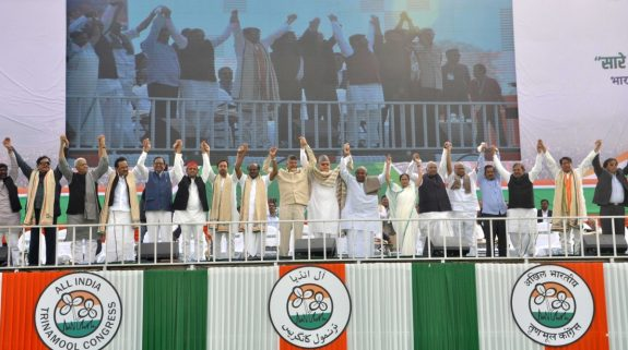 United India rally: Opposition leaders collectively call for ouster of BJP, PM Modi at Brigade Ground