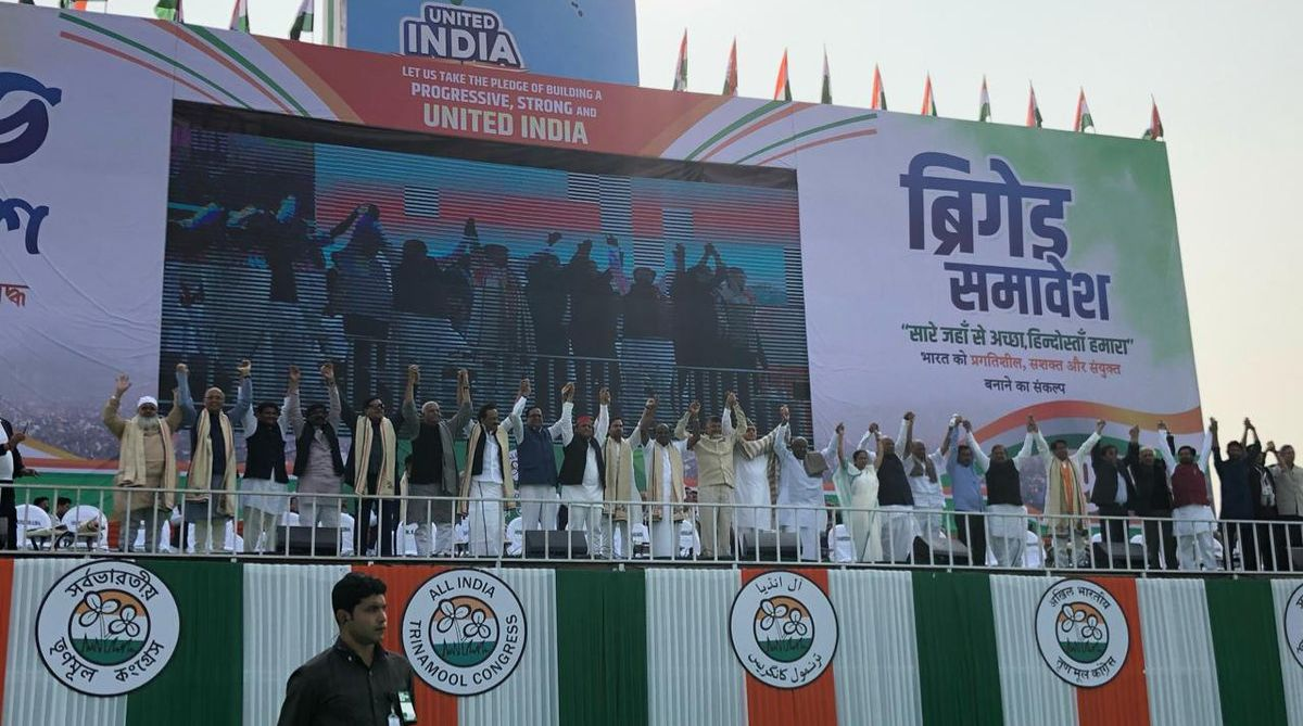Huge show of strength by non-BJP parties in Kolkata