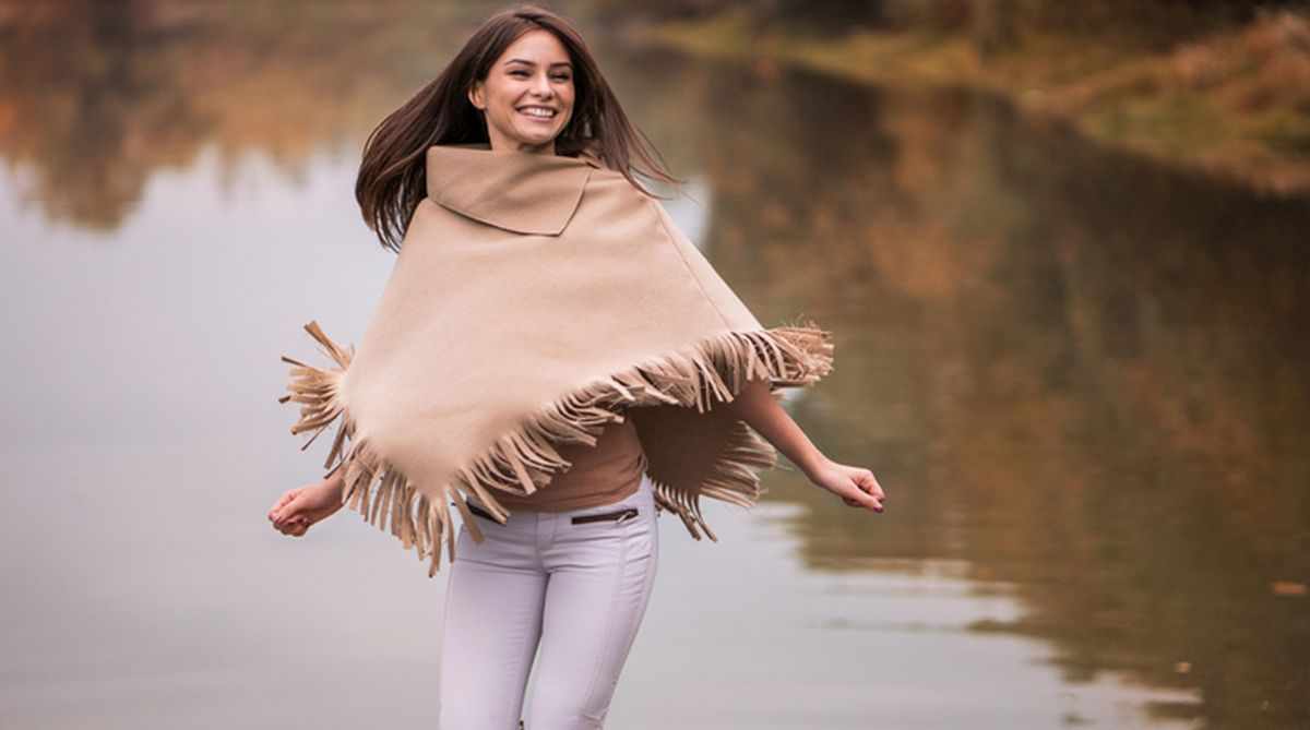 Poncho is a beautiful addition to your winter wardrobe