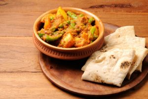 Baby potatoes and peas curry veg