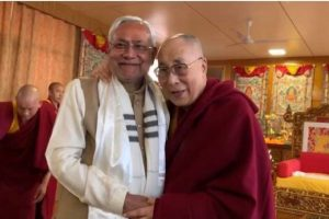 Bihar CM Nitish Kumar calls on Dalai Lama