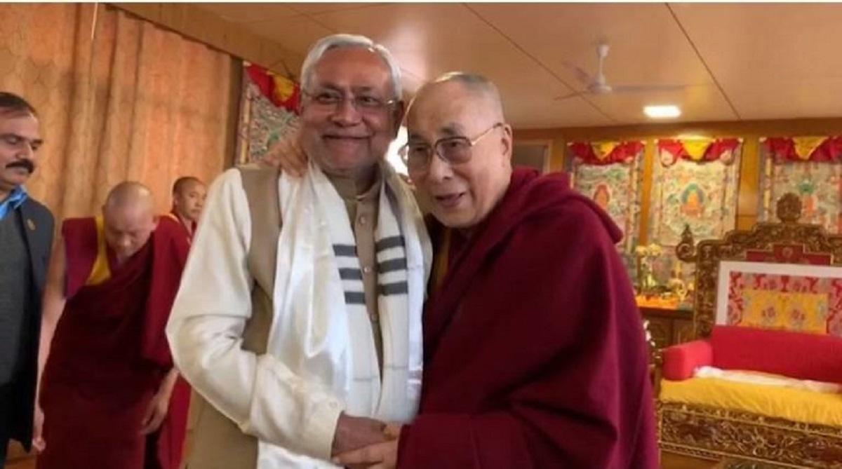 Bihar CM Nitish Kumar calls on Dalai Lama