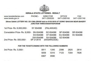 Kerala Sthree Sakthi Lottery SS 138 result declared on keralalotteries.com | Check direct link for winner list