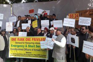 Ex-SSC officers demand pro rata pension, benefits of ECHS