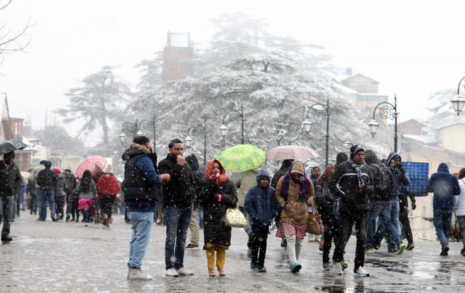 Shimla gets first snowfall, Partial Solar Eclipse, Pacific Ocean, Shimla, Himachal Pradesh, Ridge, Mall Road, District Emergency Operation Centre, Shimla helpline number 1077