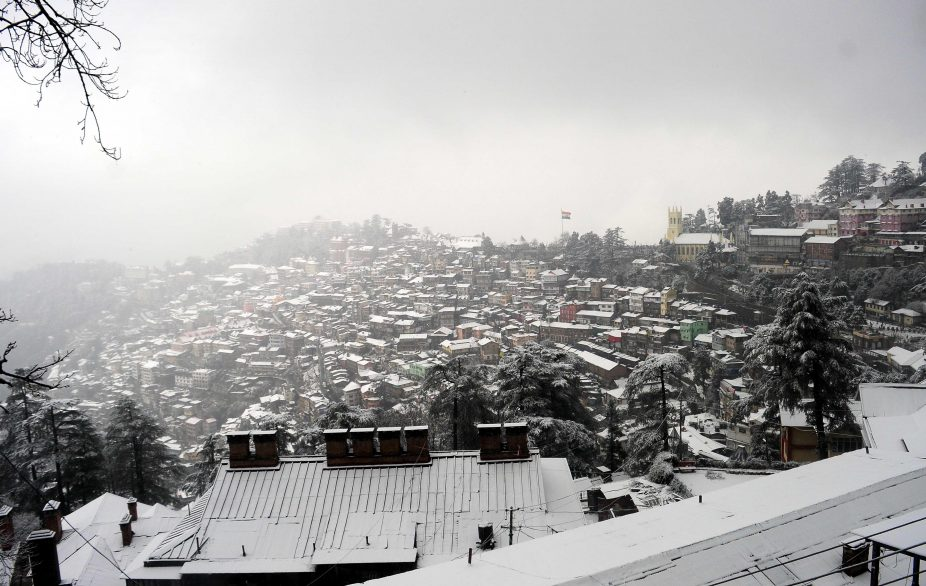 Shimla gets first snowfall, Partial Solar Eclipse, Pacific Ocean, Shimla, Himachal Pradesh, Ridge, Mall Road, District Emergency Operation Centre, Shimla helpline number 1077