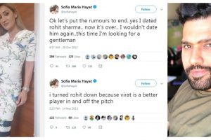 Sofia Hayat to write about her affair with Rohit Sharma in tell-all book