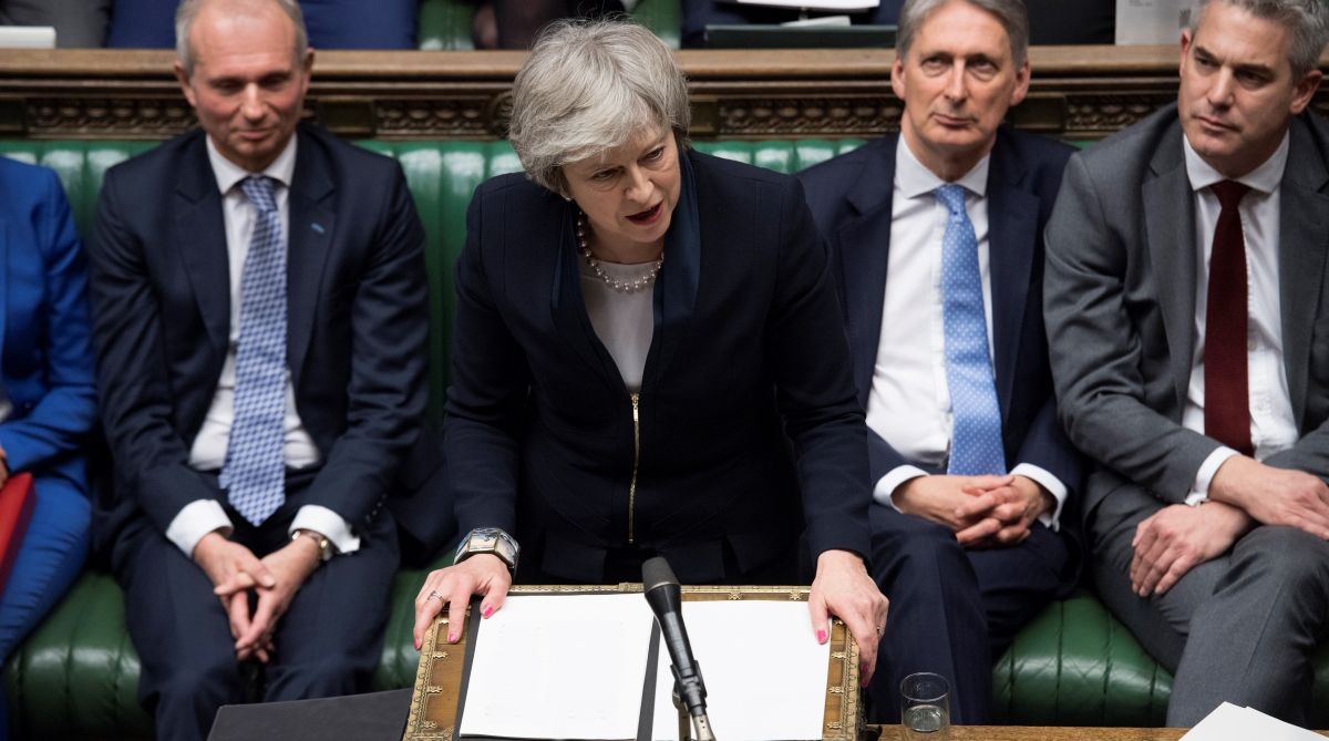 UK parliament, Brexit, Mounting uncertainty, Theresa May