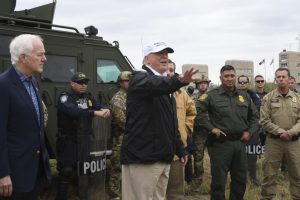 Donald Trump visits US-Mexico border, reiterates demand for wall