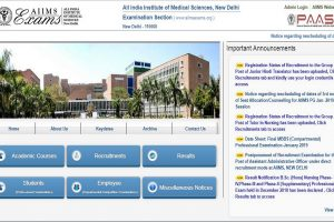 AIIMS Basic registration 2019: Registration process to close today, apply now at aiimsexams.org