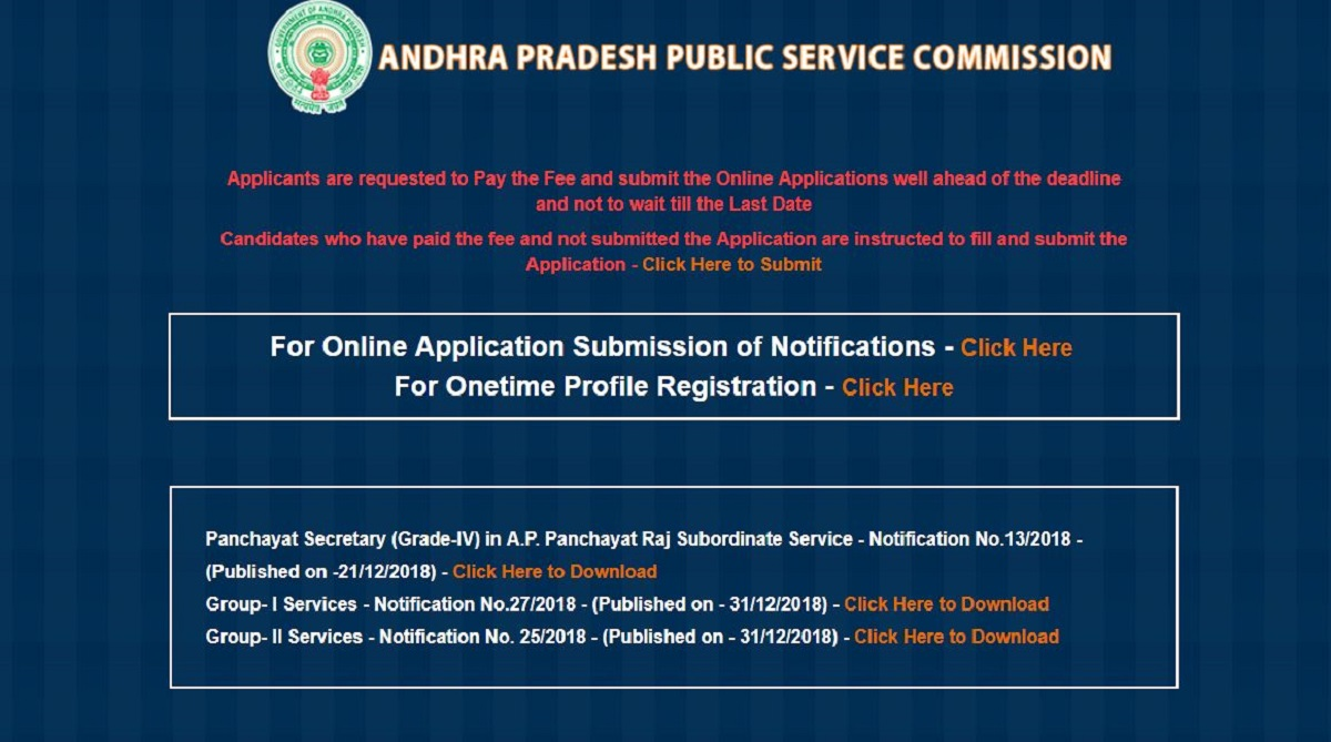 APPSC Panchayat Secretary recruitment: Online application process to close tomorrow, apply now at psc.ap.gov.in