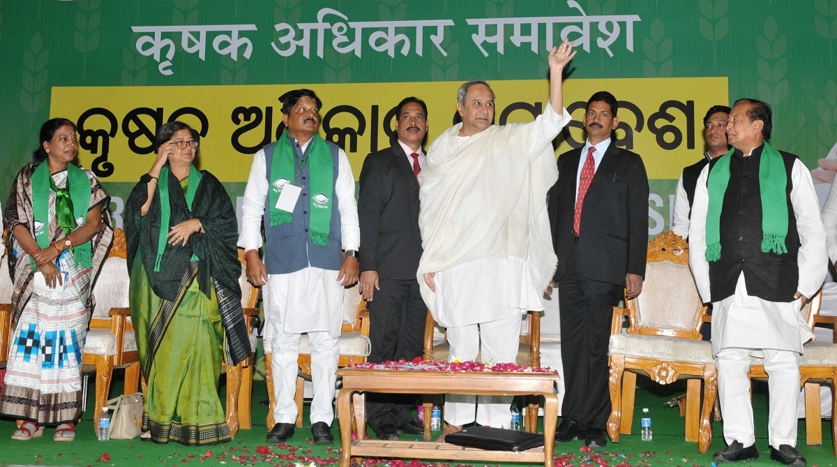 Naveen Patnaik blows election bugle, Naveen Patnaik lambasts Modi, Prime Minister Narendra Modi, Odisha Assembly, Odisha Chief Minister, Naveen Patnaik, Krushak Adhikar Samavesh, Talkatora Stadium, BJD, 2014 election promises, Minimum Support Price, MSP, Krushak Assistance for Livelihood and Income Augmentation, KALIA scheme, BJD Krushak wing, President Ramnath Kovind