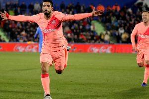 Messi, Luis Suarez lead Barcelona to 2-1 win over Getafe