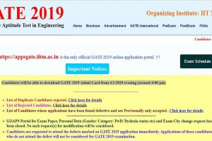 GATE 2019: Admit cards to be released today at gate.iitm.ac.in | Check how to download here