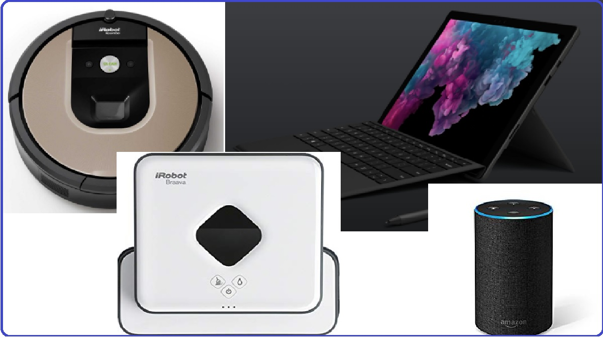 Top 4 smart appliances, Roomba 966, iRobot HOME App, Visual Localization technology, Microsoft Surface Pro 6, Surface Pro, Amazon Alexa, Braava 390t, Pro-clean Reservoir Pad