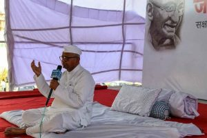 Anna Hazare begins hunger strike demanding formation of Lokpal, Lokayuktas