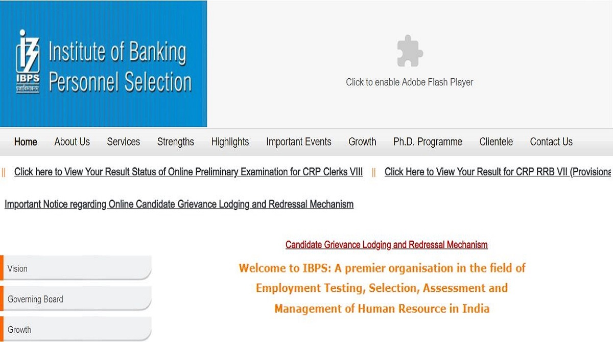 IBPS Clerk Prelims result declared at ibps.in | Check the steps to download here and direct link here