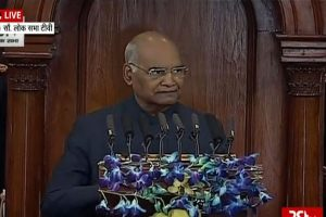 President addresses both Parliament Houses, lauds PM Modi's 'New India', govt schemes