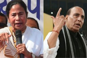 'Heated exchange' between Mamata, Rajnath Singh after Amit Shah rally in WB