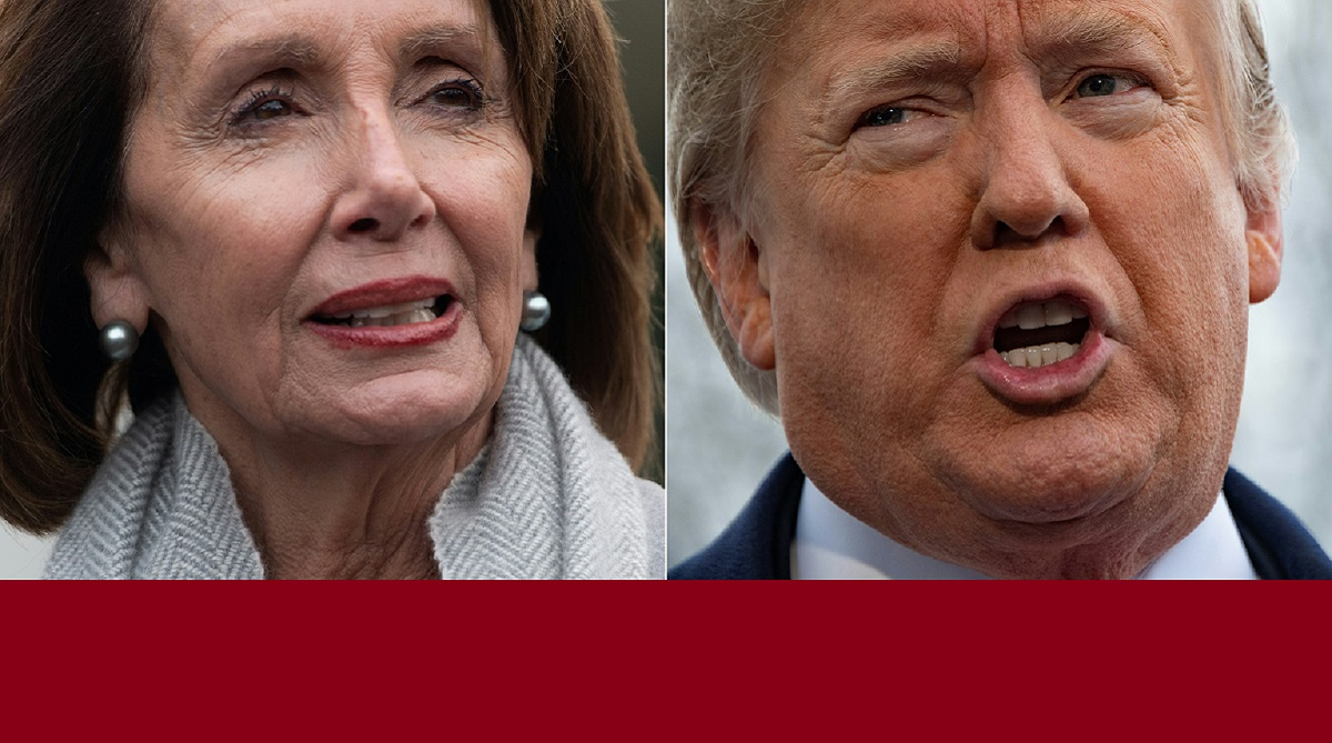 Ms Pelosi grounded, United States of America, Donald Trump, Nancy Pelosi