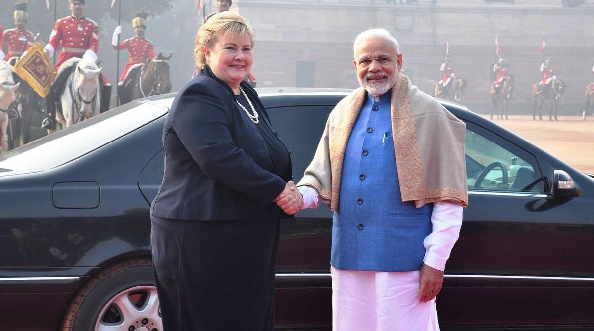 India Norway to boost ocean economy, India and Norway, Sustainable Development Goals, Prime Minister Narendra Modi, Erna Solberg, Sushma Swaraj, Ine Eriksen Soreide, Hyderabad House, Raisina Dialogue, External Affairs Ministry, Government Pension Fund
