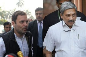Rahul Gandhi meets Manohar Parrikar day after his 'Rafale audio tapes' attack