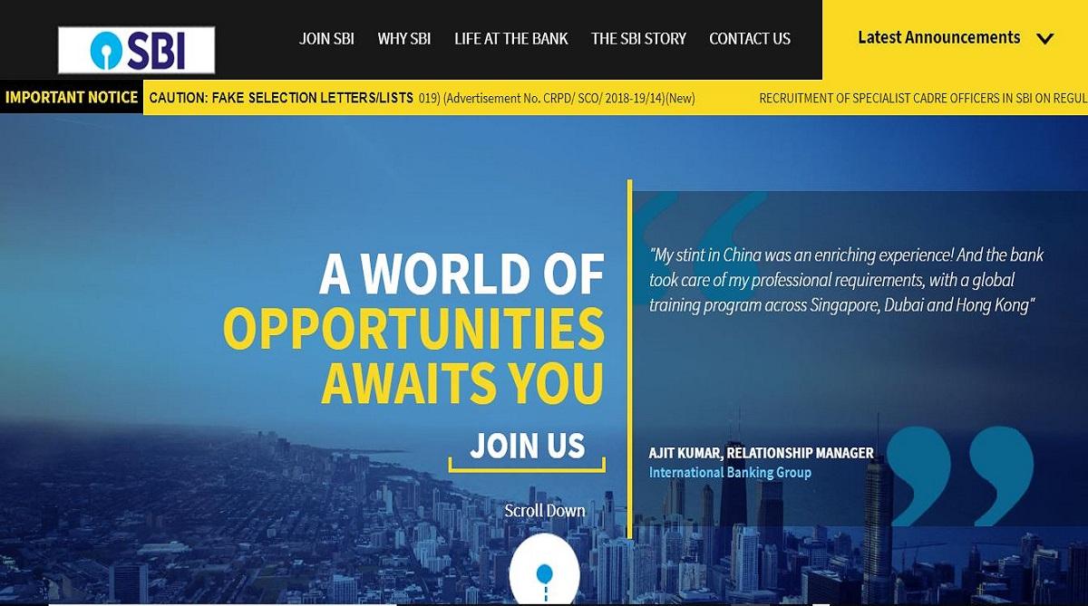 SBI recruitment 2019, State Bank of India, Senior Executive posts, SBI recruitment, bank.sbi/careers