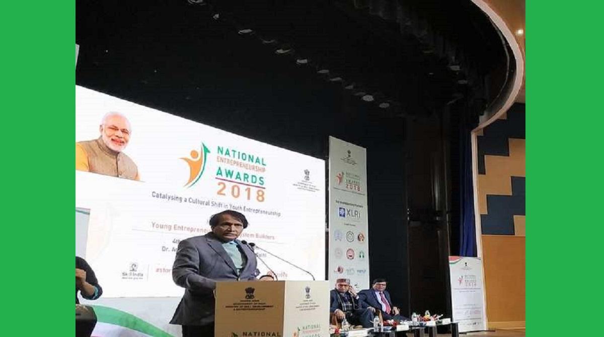 Ministry of Skill Development and Entrepreneurship, MSDE, National Entrepreneurship Awards, Suresh Prabhu, Anantkumar Hegde, Dharmendra Pradhan, Entrepreneurship Ecosystem Builders, Government eMarketplace