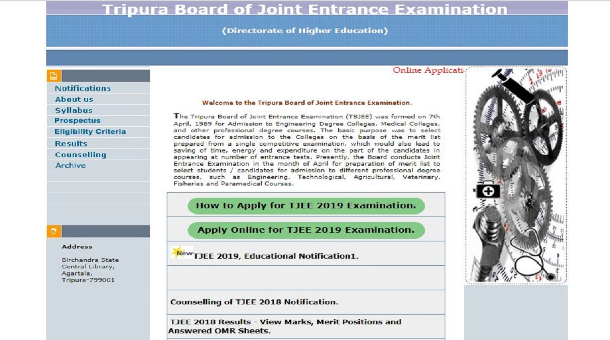 Tripura JEE 2019: Online application starts at tbjee.nic.in, check academic qualification, fee and other details here