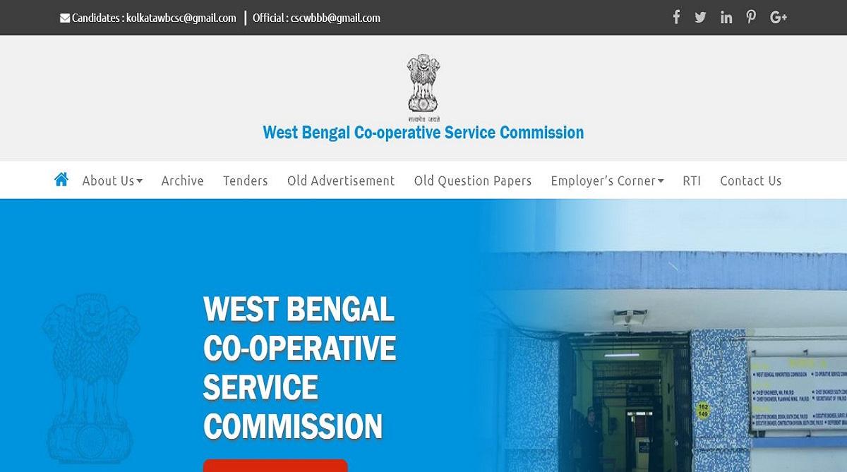 WBCSC recruitment 2019, West Bengal Cooperative Service Commission, WBCSC recruitment, webcsc.org