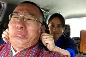 This Valentine's Day photo of former Bhutan PM and his wife is winning the Internet